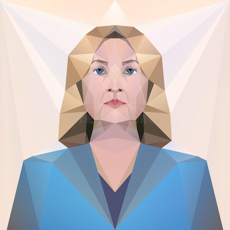 7 2016 Nov USA kandyday na prezydenta Hillary Clinton Editoria royalty ilustracja