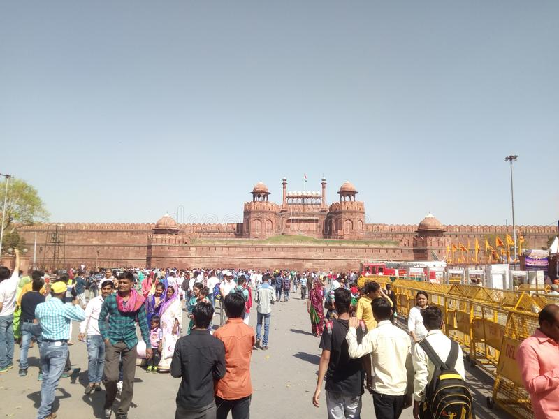 NOVA DELHI RED FORT AWESOME foto de stock royalty free