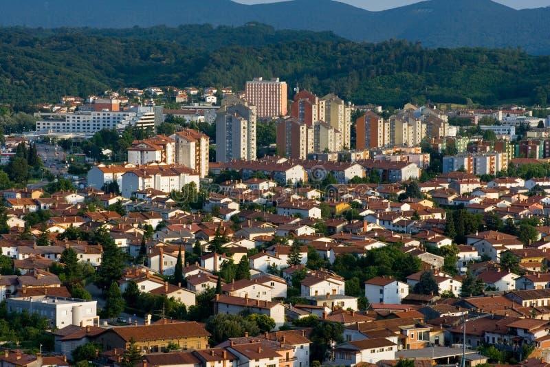 Nova Gorica. The town of Nova Gorica, situated near the italian border, Slovenia, Europe. Nova Gorica is widely known as a gambling and entertainment tourist stock photos