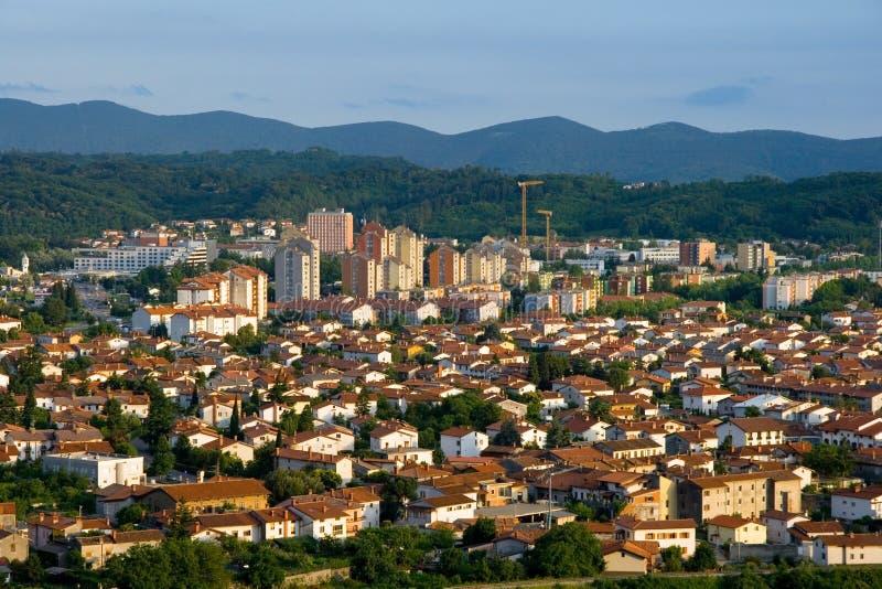 Nova Gorica. The town of Nova Gorica, situated near the italian border, Slovenia, Europe. Nova Gorica is widely known as a gambling and entertainment tourist stock image