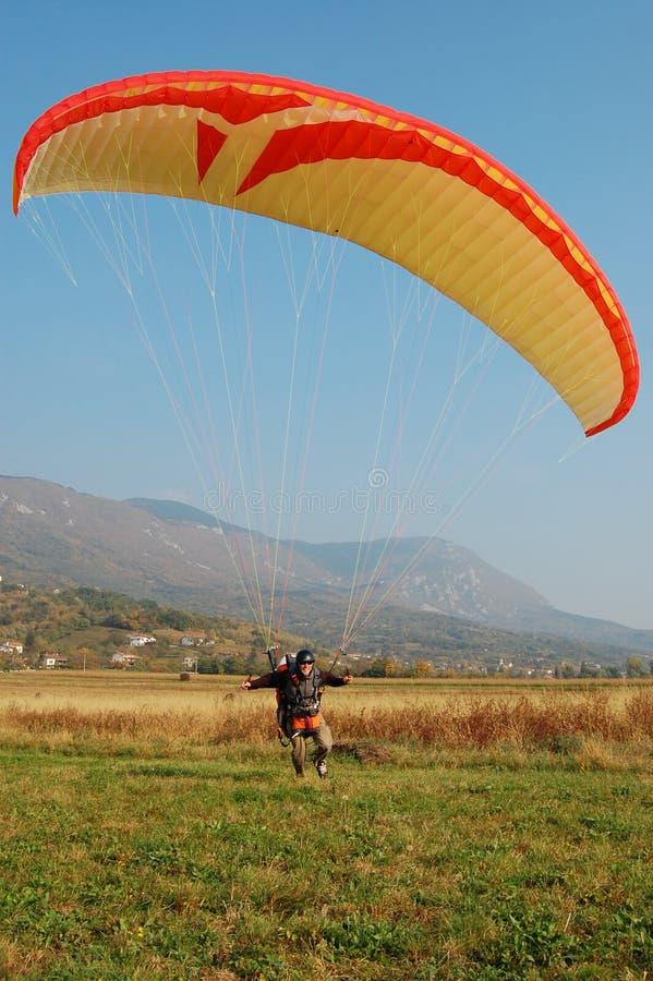 Nova gorica paragliding. Autumn paragliding in nova gorica slovenia stock photography