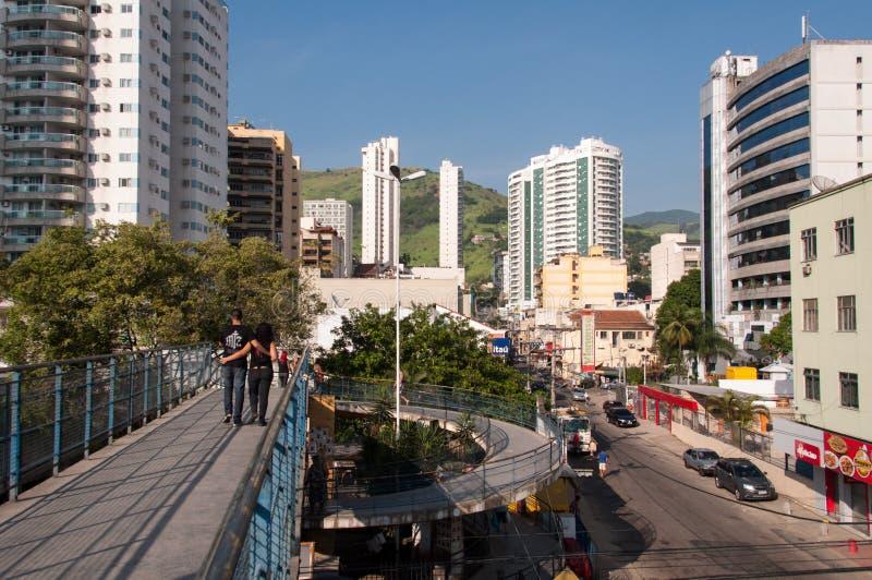 Nova Iguacu City Center Urban-Scène stock foto