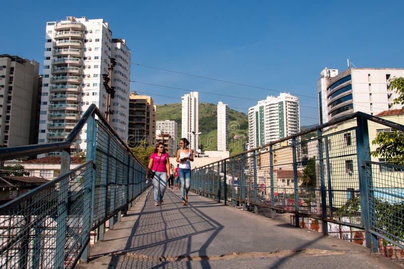 Nova Iguacu City Center Urban-Scène royalty-vrije stock afbeeldingen
