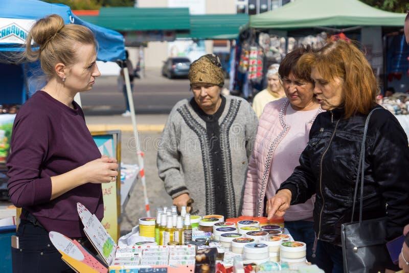 Nova Kakhovka, Ukraine, 29 september 2019. 29 september 2019, Ukraine, Kherson, Nova Kakhovka, Fair - an exhibition of royalty free stock images