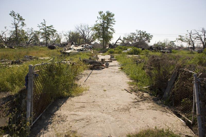 Nova Orleães após Katrina, nona entrada de automóveis da divisão   imagem de stock royalty free