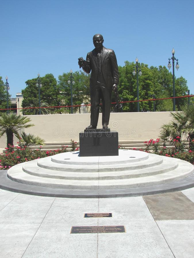 Nova Orleães Art In Louis Armstrong Park imagem de stock