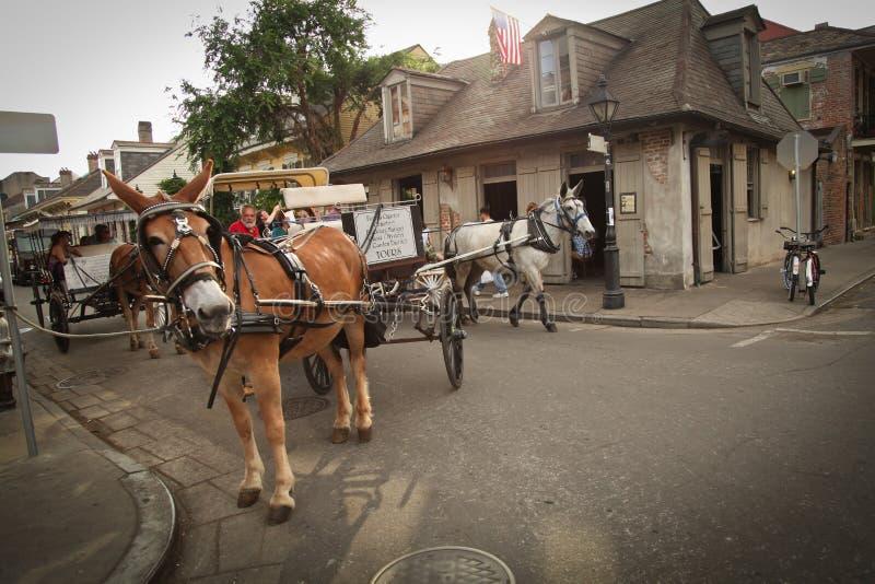 Nova Orleães - cena da rua fotografia de stock