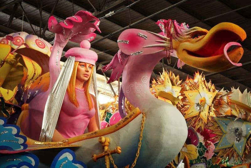 Nova Orleães - flutuador do carnaval fotografia de stock
