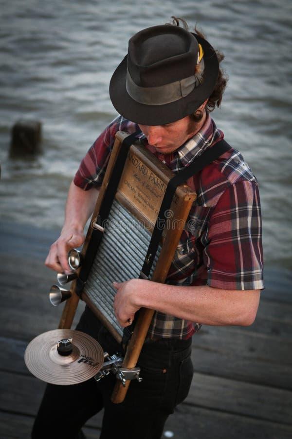 Nova Orleães - músico da rua fotos de stock royalty free