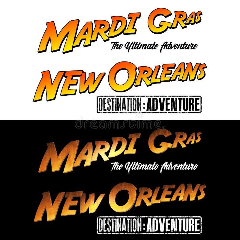 Nova Orleães Mardi Gras Adventure ilustração royalty free
