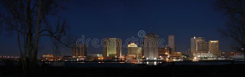 Nova Orleães na noite fotografia de stock royalty free