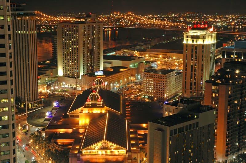 Nova Orleães na noite fotos de stock royalty free