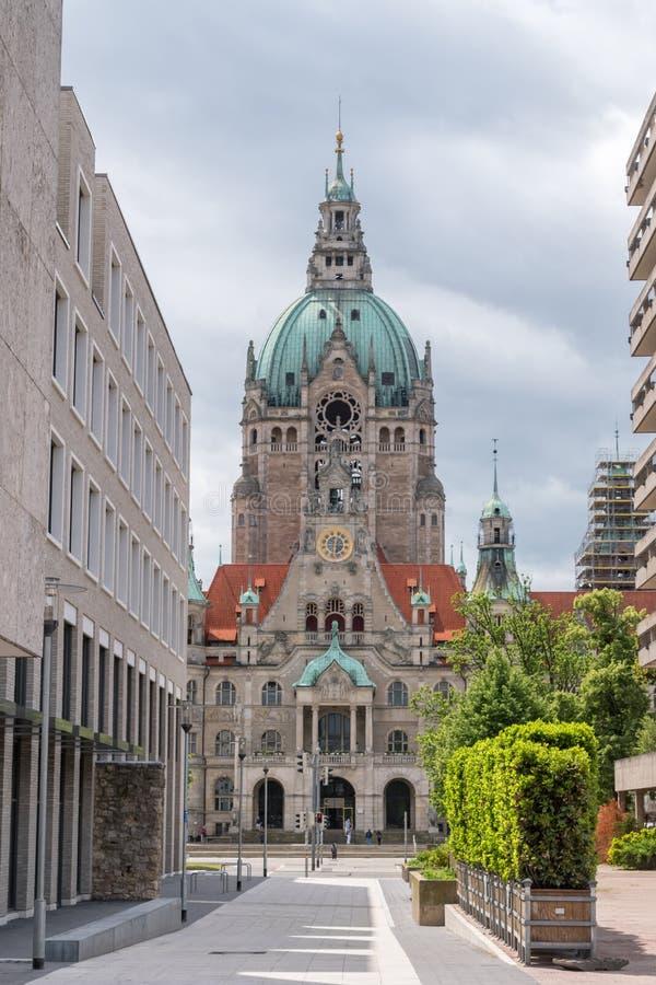 A nova prefeitura em Hanover, Alemanha fotografia de stock
