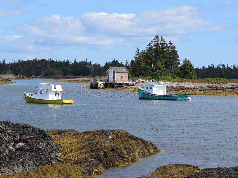 Nova Scotia. Seaside stock photo