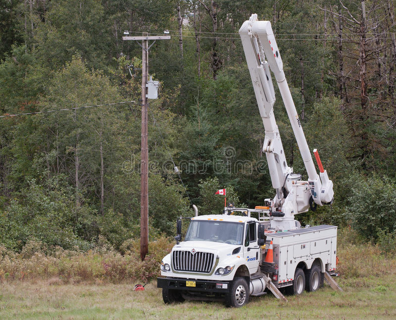 Nova Scotia Power Truck stock image