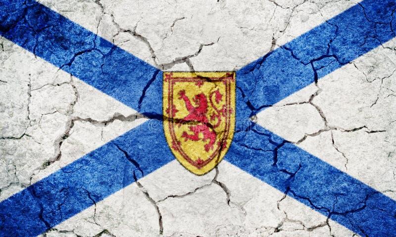 Nova Scotia, provincie van Canada, vlag vector illustratie