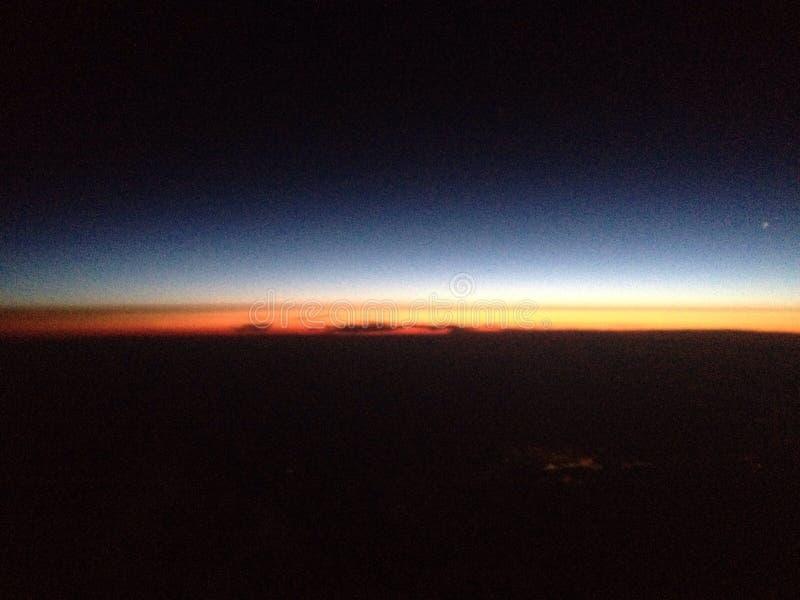 Nova Scotia-zonsopgang van 35.000 voet stock afbeelding
