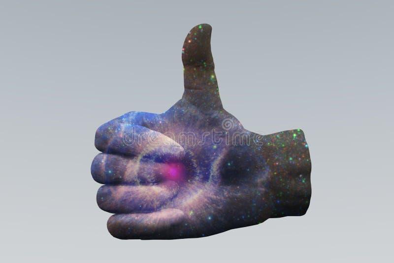 Nova Thumbs Up eccellente illustrazione di stock
