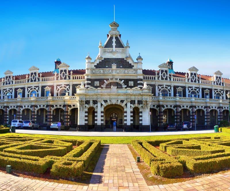 Nova Zelândia, construções históricas, Dunedin, estação de trem imagem de stock royalty free