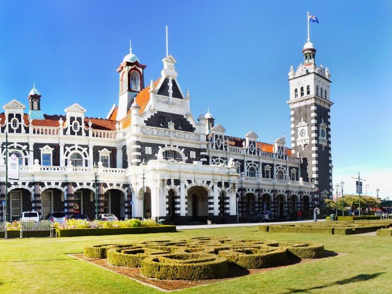 Nova Zelândia, Dunedin, estação de trem histórica imagem de stock