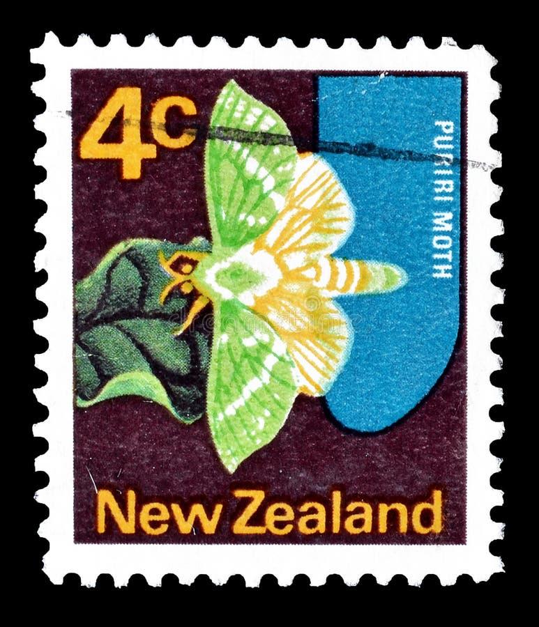 Nova Zelândia em selos postais imagens de stock royalty free
