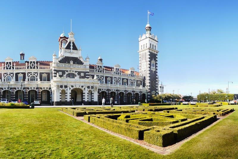 Nova Zelândia, estação de trem, Dunedin imagens de stock