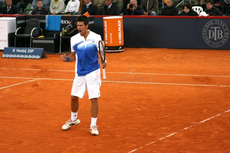Novac Djokovic, Amburgo 2008 immagine stock