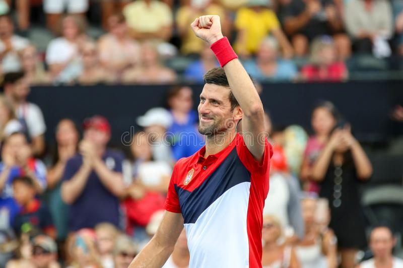 Brisbane ATP Cup 2020, Serbia vs Chile stock photography