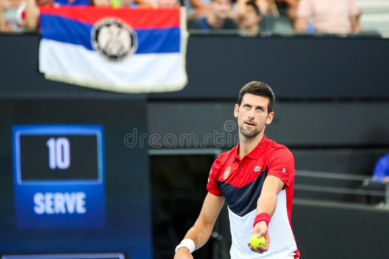 Brisbane ATP Cup 2020, Serbia vs Chile royalty free stock photography