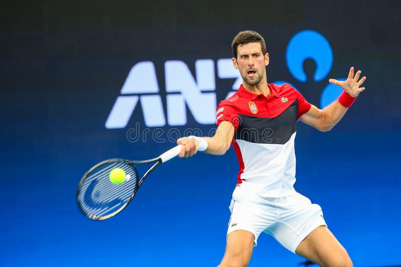 Brisbane ATP Cup 2020, Serbia vs Chile stock image