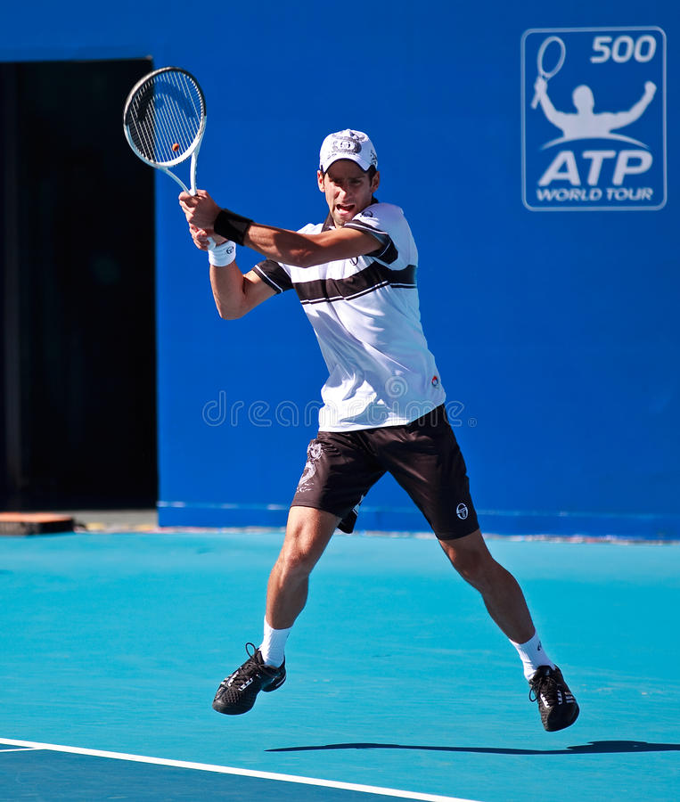 Novak Djokovic, professionele tennisspeler royalty-vrije stock foto
