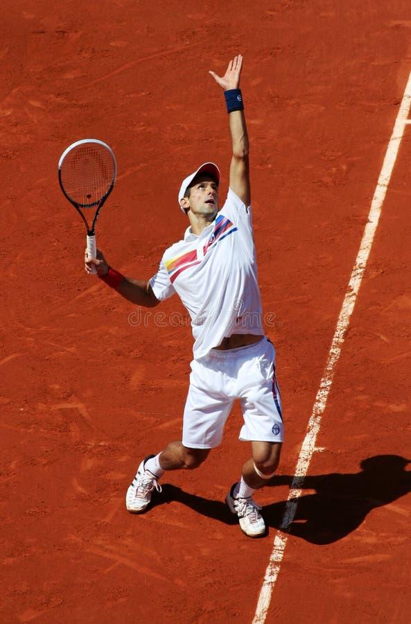 Novak Djokovic (SRB) em Roland Garros 2011 fotos de stock