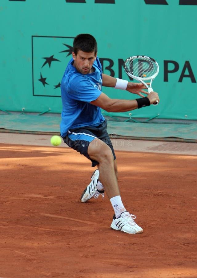 Novak DJOKOVIC (SRB) en Roland Garros 2010 imágenes de archivo libres de regalías