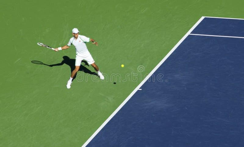 Novak Djokovic przy Indiańskimi studniami 2013 zdjęcie royalty free