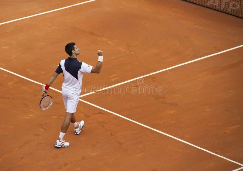 Novak Djokovic zwycięzca zdjęcia stock