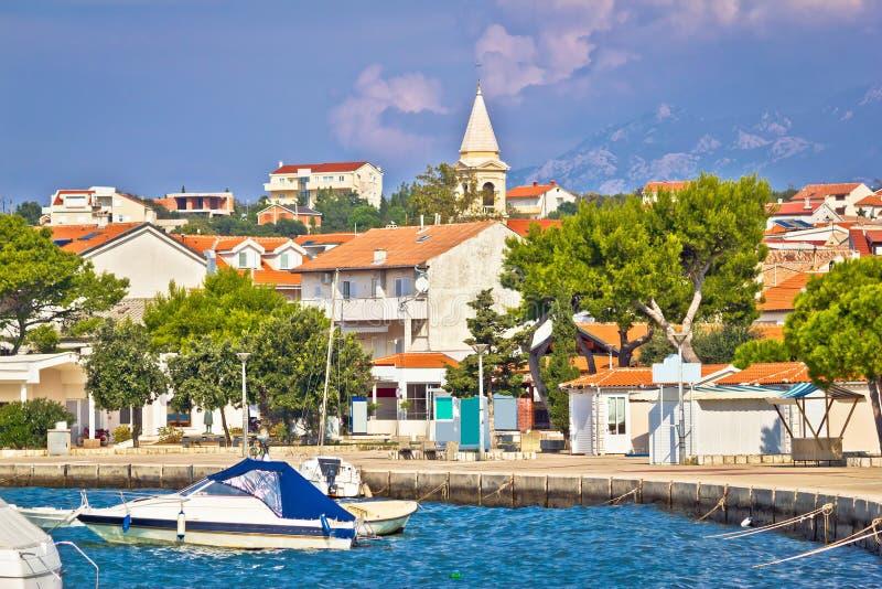 Novalja na opinião da margem da ilha do Pag fotos de stock royalty free