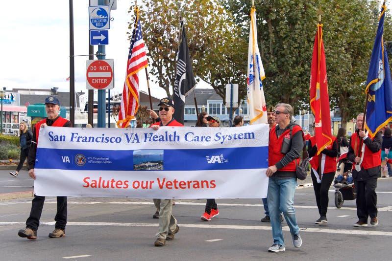 novantasettesima parata annuale 2017 San Francisco, CA di giorno del ` s del veterano fotografie stock libere da diritti
