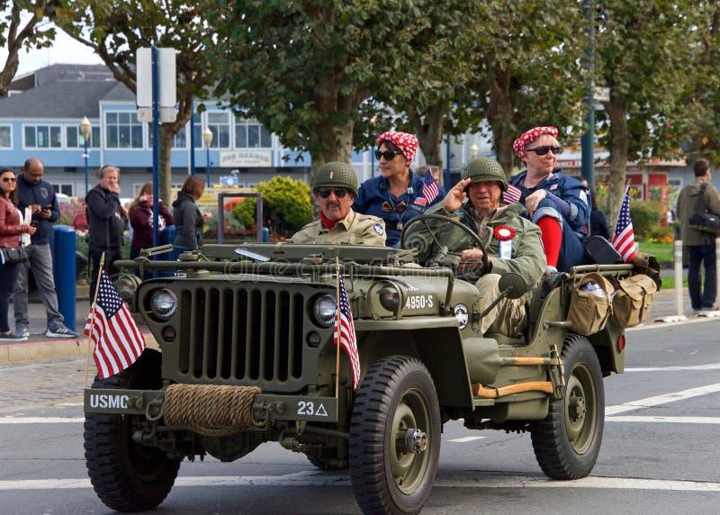 novantasettesima parata annuale 2017 San Francisco, CA di giorno del ` s del veterano fotografia stock libera da diritti