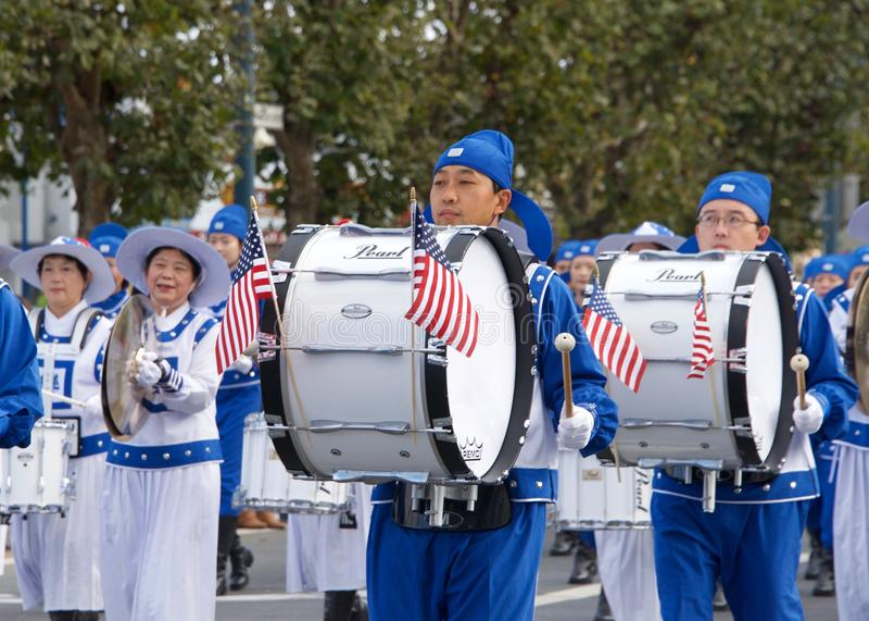 novantasettesima parata annuale 2017 San Francisco, CA di giorno del ` s del veterano fotografie stock
