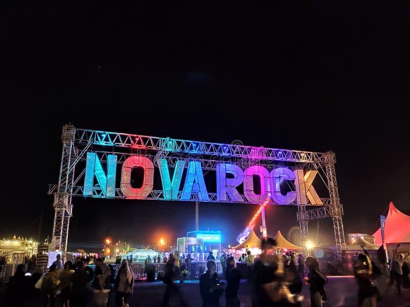 NovaRock-Eingang stockfotos
