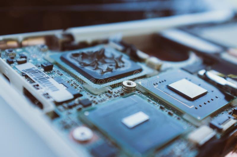 Novas tecnologias na indústria informática imagem de stock