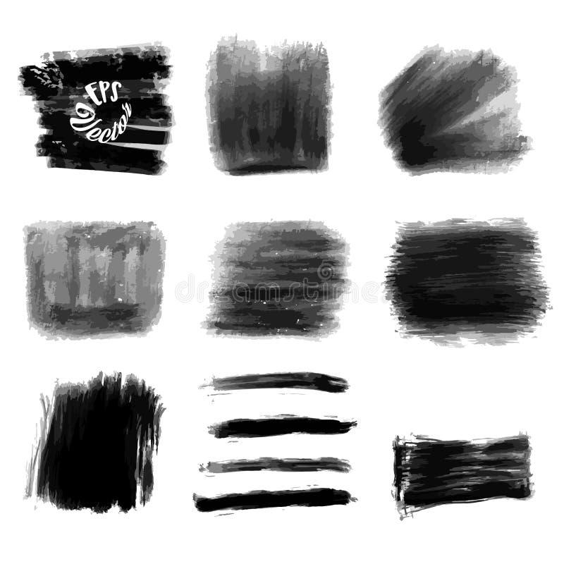 Nove cursos acrílicos do fundo do vetor ilustração do vetor