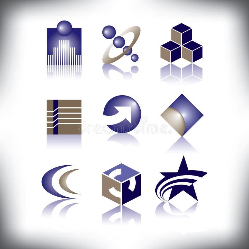 Nove logos di vettore da scegliere da royalty illustrazione gratis