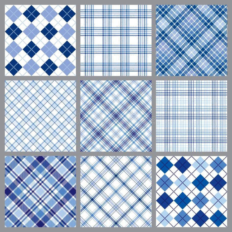 Nove mantas azuis ilustração royalty free
