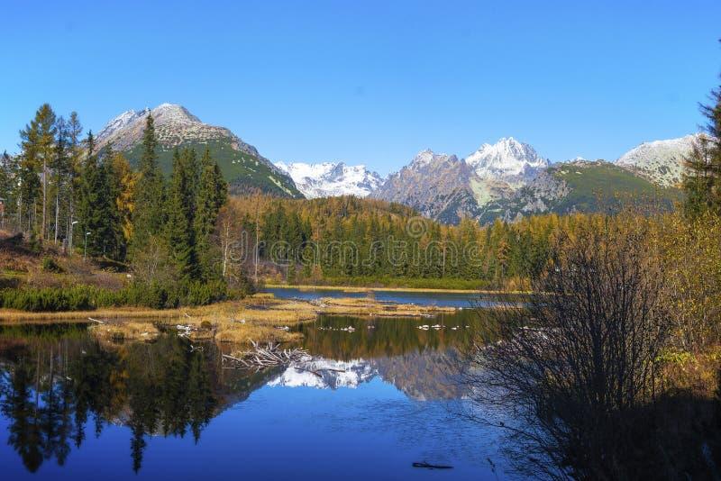 Nove Strbske Pleso, Wysoki Tatras, Sistani obraz royalty free