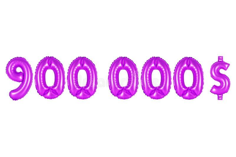 Novecentos mil dólares, cor roxa imagens de stock royalty free