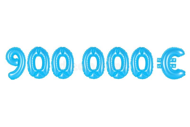 Novecentos mil euro, cor azul imagens de stock royalty free