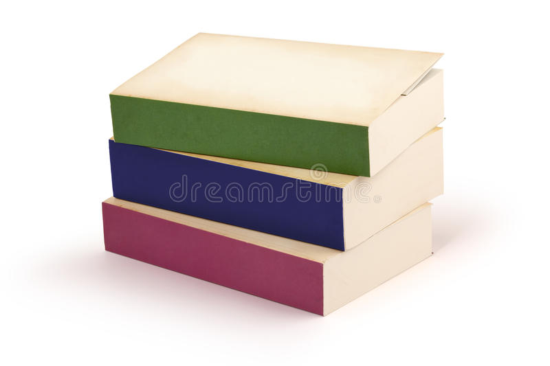 Novel book series - clipping path royalty free stock photography