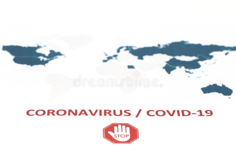 Novel Coronavirus, cúvio-19, conceito do vírus Wuhan da China imagens de stock royalty free
