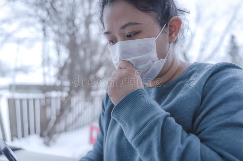 Novel 2019-nCoV, MERS-Cov middle East respiratory syndrome. Protective medical mask and medicines, pills against the. Virus. Wuhan pneumonia virus, Dangerous royalty free stock image
